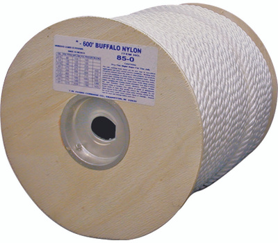 Wellington Cordage 85-050 Buffalo Nylon 1/4 By 600 Twisted Nylon Rope