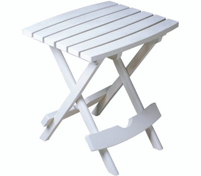 Adams 8500-48-3735 Quik Fold Table Folding Quick Side White