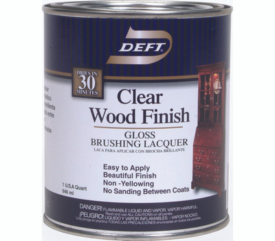 Deft PPG 010-04 Clear Gloss Brushing Lacquer Interior Quart