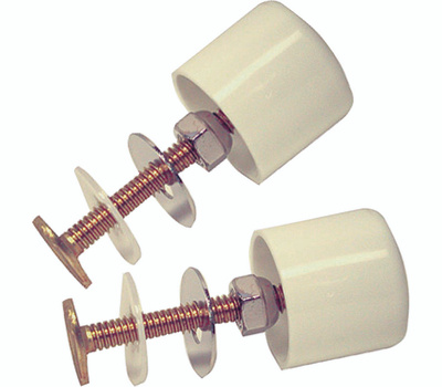 Danco 88883 Toilet Cap And Bolt Set Twister Screw On White