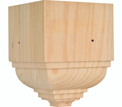 Waddell OCTB-31 The Moulding Connection 4-1/2 Inch Pine Outside Crown Corner Block