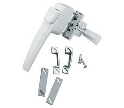 Hampton Wright VF333WH White Free Hanging Handle Push Button Latch