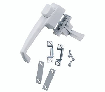 Hampton Wright V333WH Screen And Storm Door Push Button Latch White