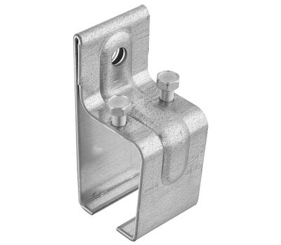 National Hardware N104-380 Single Box Rail Splice Bracket With Lag Galvanized Steel