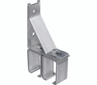 National Hardware N104-414 Double Box Rail Bracket Galvanized Steel