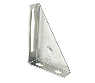National Hardware N104-612 Double Box Rail Triangle Support Galvanized Steel