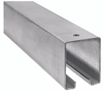 National Hardware N105-726 N263-301 Barn Door Track Box Style 96 Inch Trolley Rail Galvanized Steel