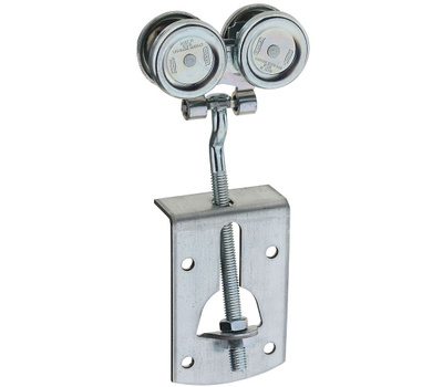 National Hardware N112-284 Box Rail Hanger Set Flexible Zinc Plated Steel With Delrin Bearings