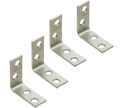National Hardware N113-134 Corner Braces 1-1/2 By 5/8 By 0.08 Inch Zinc Plated Steel 4 Pack