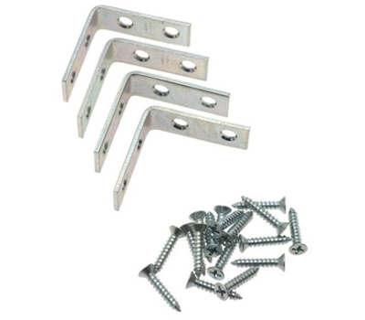 National Hardware N113-308 Corner Braces 2 By 5/8 By 0.08 Inch Zinc Plated Steel 4 Pack