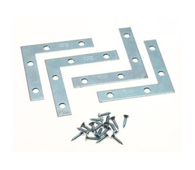 National Hardware N226-696 N113-845 Flat Corner Iron Braces 2 By 3/8 By 0.07 Inch Zinc Plated Steel 4 Pack