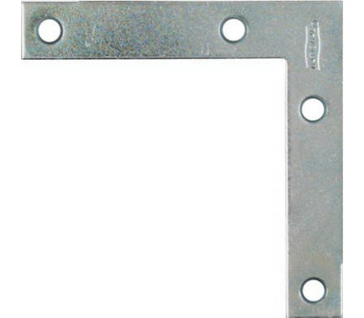 National Hardware N114-025 Flat Corner Iron Braces 3-1/2 By 5/8 By 0.07 Inch Zinc Plated Steel 4 Pack