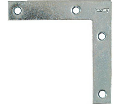 National Hardware N114-116 Flat Corner Iron Braces 4 By 3/4 By 0.07 Inch Zinc Plated Steel 4 Pack
