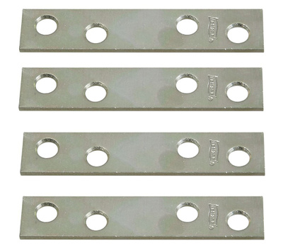 National Hardware N114-355 N226-787 3 By 5/8 Inch Zinc Plated Steel Mending Plates 4 Pack