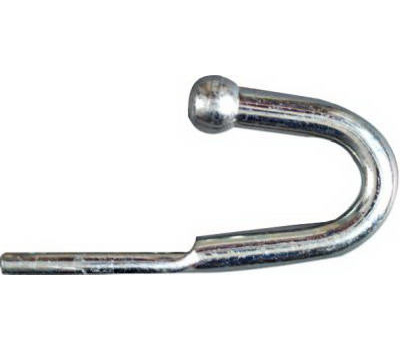 National Hardware N220-533 Zinc Plated Steel Rounded End Tarp Rope Hook 3-3/4 Inch