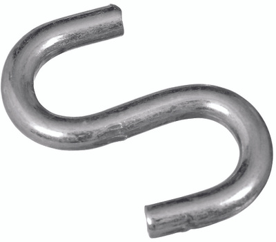 National Hardware S273-417 N162-053 Stanley Heavy Open S Hook 1-1/2 Inch Zinc Plated Steel Bulk