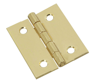 National Hardware N135-079 Shutter Hinges 1-1/2 By 1-1/4 Inch Brass Finish Steel 2 Pack
