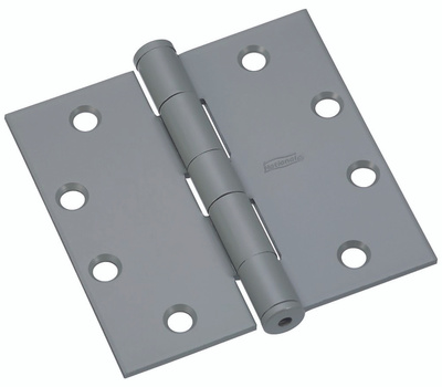 National Hardware N137-927 Commercial Door Hinges 4-1/2 Inch Square Corner USP Prime Coat 3 Pack