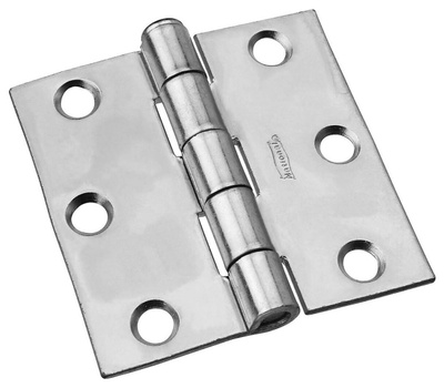 National Hardware N139-766 S819-047 Removable Pin Broad Hinge 2-1/2 Inch Zinc Plated Steel Bulk