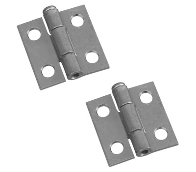 National Hardware N141-606 Removable Pin Narrow Hinges 1 By 1 Inch Zinc Plated Steel 2 Pack