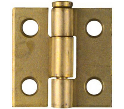 National Hardware N141-622 Removable Pin Narrow Hinges 1 By 1 Inch Brass Finish Steel 2 Pack