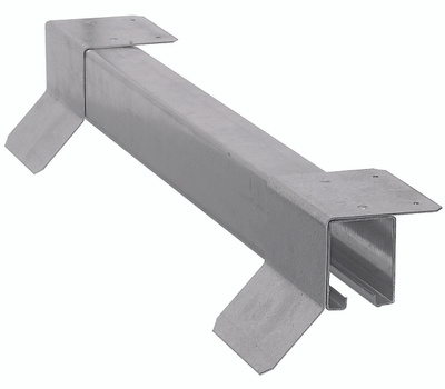 National Hardware N142-364 Top Mount Box Rail With Flashing Brackets 96 Inch Galvanized Steel