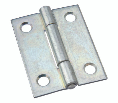 National Hardware N146-142 N146-134 S113-500 Non-Removable Fixed Pin Narrow Hinge 2 By 1-9/16 Inch Zinc Plated Steel Bulk