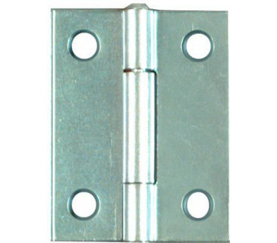 National Hardware N146-159 2 Inch Zinc Narrow Hinges Non-Removable Pin 2 Pack