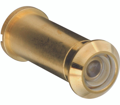 National Hardware N158-907 S610-470 160 Degree Solid Brass Door Viewer Polished Brass