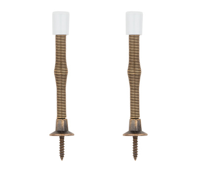 National Hardware N159-020 3 Inch Economy Spring Door Stops Antique Brass 2 Pack