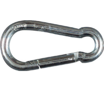 National Hardware N222-893 Interlocking Safety Spring Snap Zinc Plated Steel 1/2 By 3-15/16 Inch