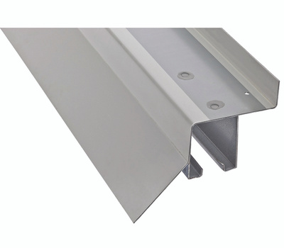 National Hardware N174-110 Top Mount Box Rail With White Flashing Cover 96 Inch Galvanized Steel