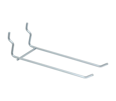 National Hardware N180-455 Double Multi Fit Pegboard Hooks 6 Inch Galvanized Steel 2 Pack