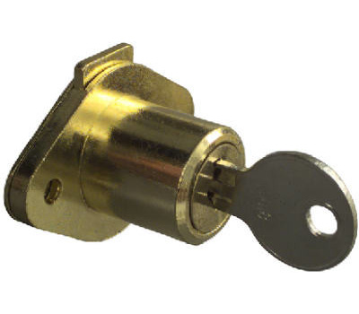 National Hardware N183-772 Drawer Lock Keyed Differently 3/4 Inch Brass  Plated Die Cast Zinc