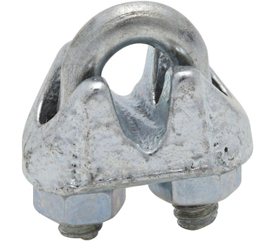 National Hardware N186-643 Wire Cable Clamps 1/8 Inch Zinc Plated Malleable Iron 3 Pack