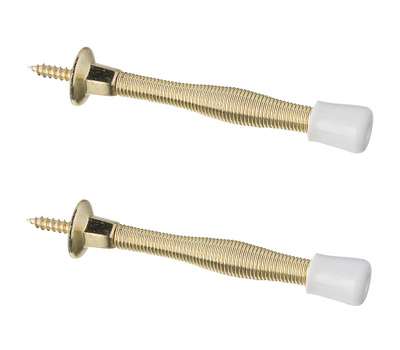 National Hardware N243-774 Economy Spring Door Stops 3 Inch Brass 2 Pack