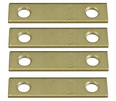 National Hardware N190-892 Mending Braces 2 By 1/2 By 0.07 Inch Brass Finish Steel 4 Pack