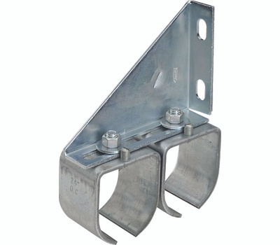 National Hardware N193-912 Double Round Barn Door Splice Bracket Zinc Plated Steel