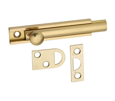 National Hardware N197-970 Flush Surface Bolt 3 Inch Bright Solid Brass