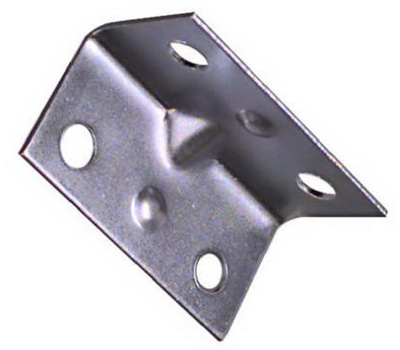 National Hardware N206-920 Wide Inside Corner Braces 1-1/2 By 3/4 By 0.04 Inch Zinc Plated Steel 4 Pack