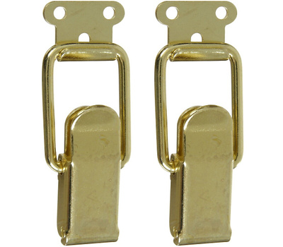 National Hardware N208-561 Draw Catch 2-1/4 Inch Bright Brass Plated Steel 2 Pack