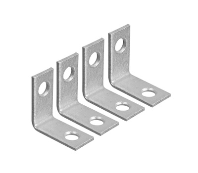 National Hardware N208-728 1 By 1/2 Inch Galvanized Steel Corner Braces 4 Pack