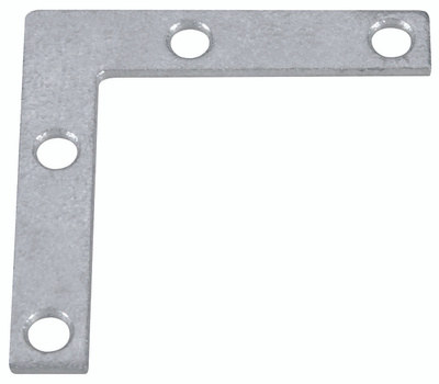 National Hardware N208-777 Flat Corner Iron Braces 2 By 3/8 By 0.07 Inch Galvanized Steel 4 Pack
