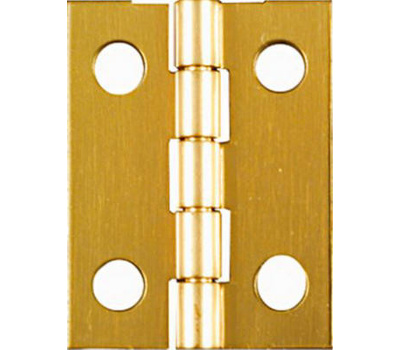 National Hardware N211-177 Narrow Craft And Hobby Hinges 1 By 3/4 Inch Bright Solid Brass 4 Pack