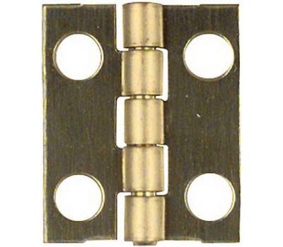 National Hardware N211-193 Narrow Craft And Hobby Hinges 3/4 By 5/8 Inch Bright Solid Brass 4 Pack
