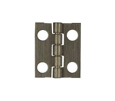National Hardware N211-201 Narrow Craft And Hobby Hinges 3/4 By 5/8 Inch Antiqued Solid Brass 2 Pack