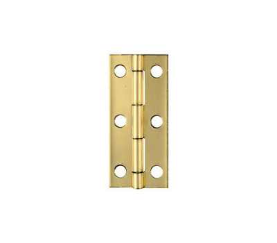National Hardware N211-250 2-1/2 By 1-1/8 Inch Solid Brass Finish Narrow Hinges 2 Pack