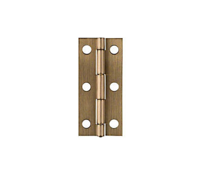 National Hardware N211-268 2-1/2 By 1-1/8 Inch Antique Brass Finish Narrow Hinges 2 Pack