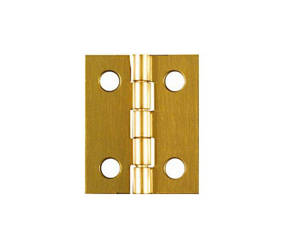 National Hardware N211-284 1 By 13/16 Inch Bright Brass Finish Hinges 4 Pack