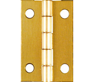 National Hardware N211-292 1-1/2 By 1 Inch Bright Brass Finish Hinges 2 Pack